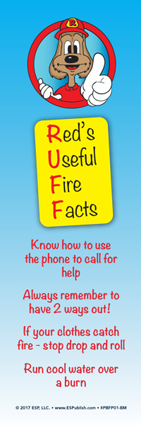 """Red's """"Useful Fire Facts"""" Bookmark"""