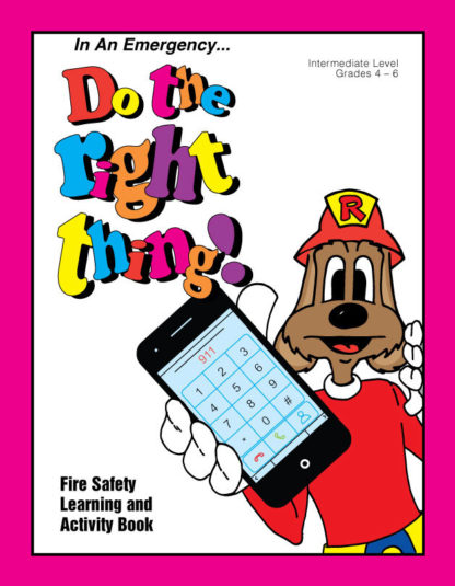 """""""Red's-In An Emergency...Do the Right Thing"""" Activity Book"""