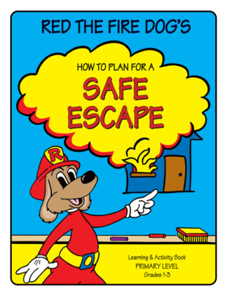 """Red the Fire Dog's """"How to Plan for a Safe Escape"""" Activity Book"""
