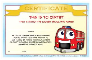 Stretch's Prevent Home Fires Certificate