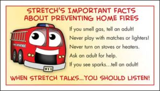 Stretch's Prevent Home Fires Membership Card