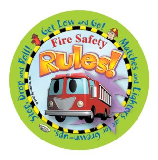 """Stretch the Ladder Truck's """"Fire Safety Rules"""" Sticker"""