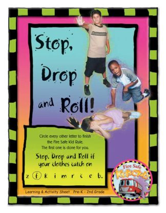 """Stretch's """"Stop, Drop, and Roll!"""" Activity Sheet"""