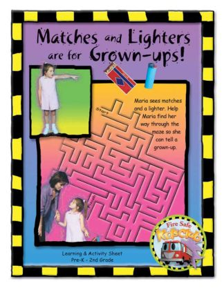 """Stretch's """"Matches and Lighters are for Grown-ups!"""" Activity Sheet"""
