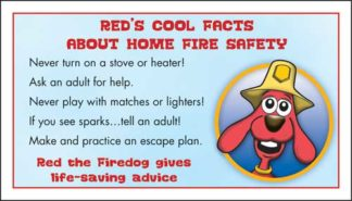 Red's Prevent Home Fires Membership Card