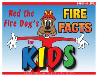 """Red the Fire Dog's """"Fire Facts for Kids"""" Activity Book"""