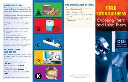 """""""Fire Extinguishers: Choosing Them and Using Them"""" Pamphlet (1)"""