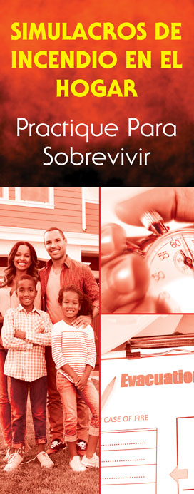 """""""Home Fire Drills: Practice for Survival"""" Pamphlet (SPANISH Version)"""