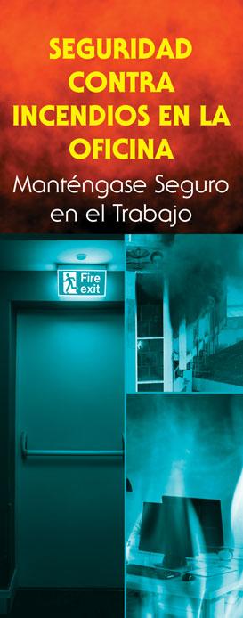 """""""Office Fire Safety: Stay Safe on the Job"""" Pamphlet (SPANISH Version)"""