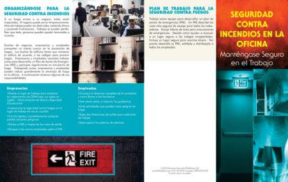 """Office Fire Safety: Stay Safe on the Job"" Pamphlet (SPANISH Version) (Page 1)"