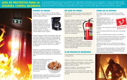 """Office Fire Safety: Stay Safe on the Job"" Pamphlet (SPANISH Version) (Page 2)"