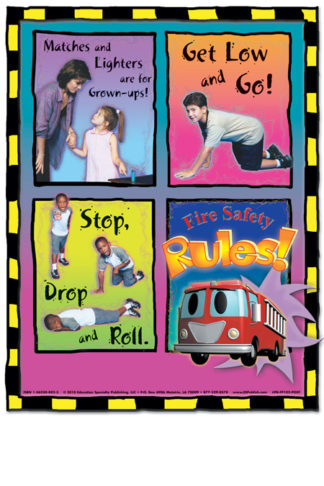 """Stretch's """"Fire Safety Rules"""" Poster"""