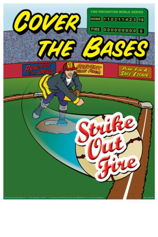 """Cover the Bases: Strike Out Fire"" Poster"