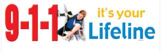 """9-1-1, It's Your Lifeline"" Banner"