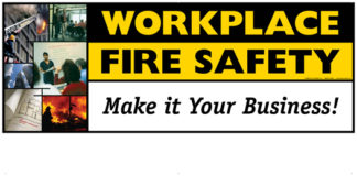 """Workplace Fire Safety: Make It Your Business!"" Banner"