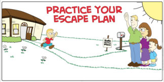 """Practice Your Escape Plan"" Banner"