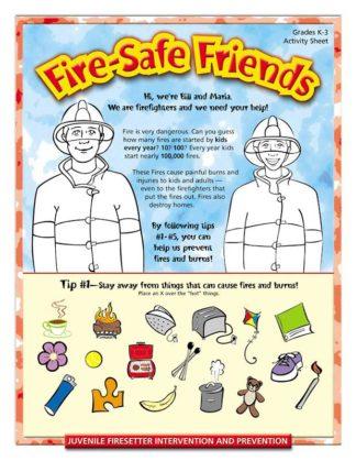 """""""Fire-Safe Friends"""" Activity Sheet"""