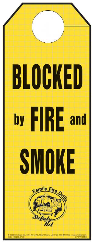 """""""Blocked by Fire and Smoke"""" Doorhanger"""