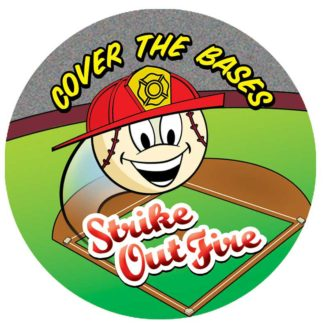 """Cover the Bases: Strike Out Fire!"" Sticker"
