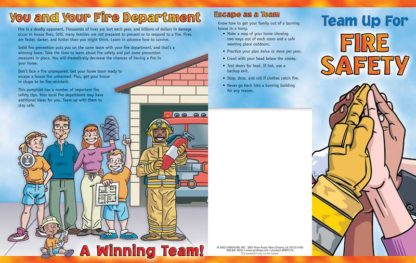 """""""Team Up for Fire Safety"""" Pamphlet"""