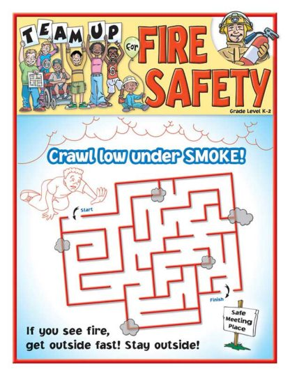 """""""Team Up for Fire Safety"""" Activity and Coloring Sheet"""