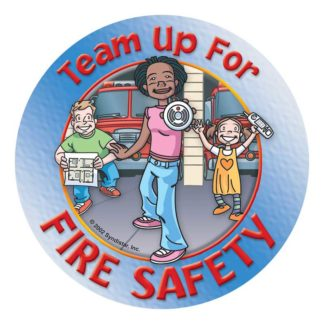 """Team Up for Fire Safety"" Sticker"