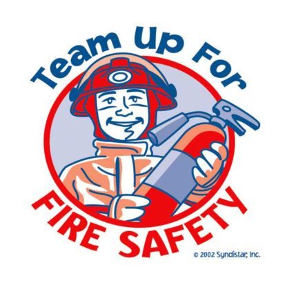 """""""Team Up for Fire Safety"""" Removable Tattoo"""