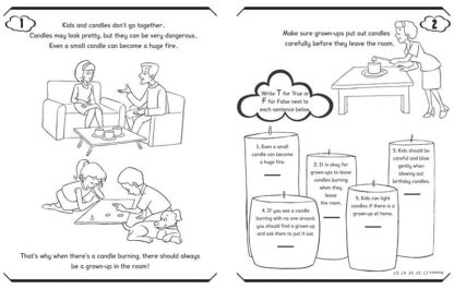 """I Can Be Safe Around Canles!"" Activity Book"