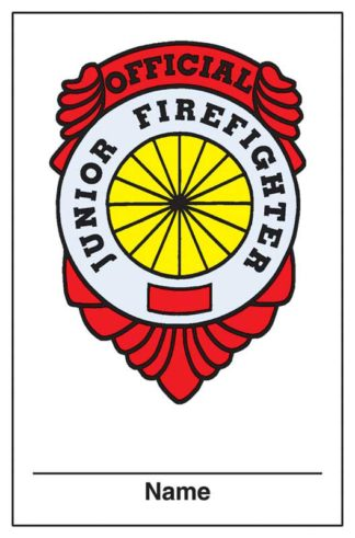 Junior Firefirghter's Membership Card