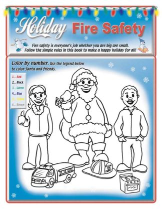 """Holiday Fire Safety"" Activity Sheet"