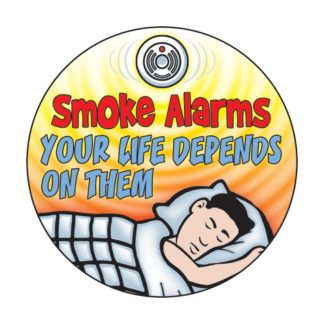 Smoke Alarms: Your Life Depends on Them Sticker