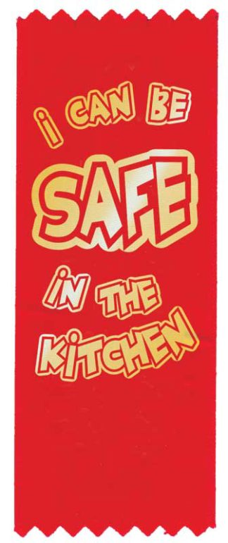 "Red the Fire Dog's ""I Can Be Safe in the Kitchen"" Red Ribbon"