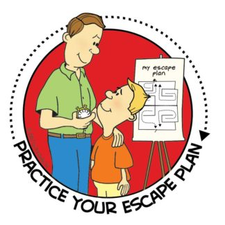 """Practice Your Escape Plan"" Sticker"