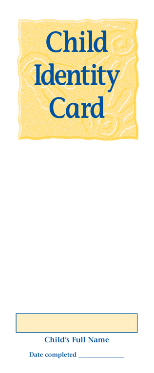 Child Identification Card with Ink Strip