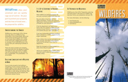 """Planning Ahead: Wildfires"" Pamphlet (page 1)"