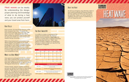 """Planning Ahead: Heat Wave"" Pamphlet (page 1)"
