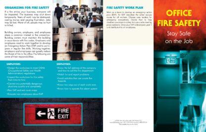 """""""Office Fire Safety: Stay Safe on the Job"""" Pamphlet (1)"""
