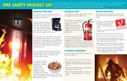 """""""Office Fire Safety: Stay Safe on the Job"""" Pamphlet (2)"""