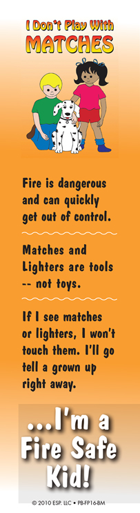 """""""I Don't Play with Matches"""" Bookmark"""
