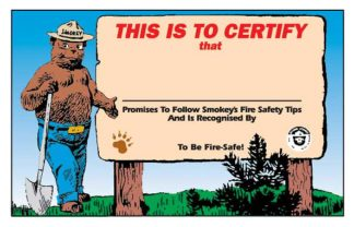 Smokey Bear Certificate