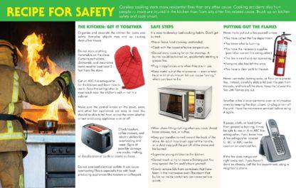 """Kitchen Fire Prevention: Cook Up Something Safe"" Pamphlet (2)"