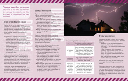 """""""Planning Ahead: Severe Weather"""" Pamphlet (Page 2)"""