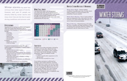 """""""Planning Ahead: Winter Storms"""" Pamphlet (Page 1)"""