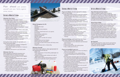 """""""Planning Ahead: Winter Storms"""" Pamphlet (Page 2)"""