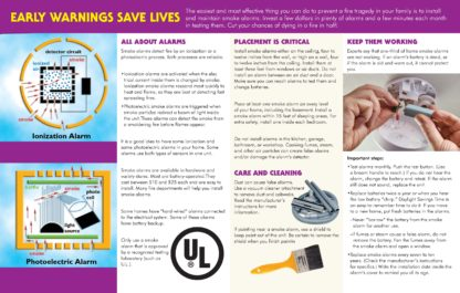 """Smoke Alarms: First Defense Against Fire"" Pamphlet (2)"