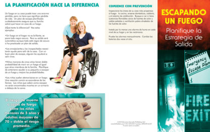 """Escaping a Fire: Plan Your Exit Strategy"" Pamphlet (SPANISH Version) (Page 1)"