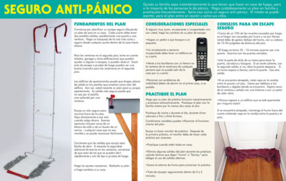 """Escaping a Fire: Plan Your Exit Strategy"" Pamphlet (SPANISH Version) (Page 2)"