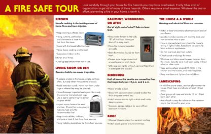 """Home Fire Prevention: Avoiding Disaster, Protecting Lives"" Pamphlet (2)"