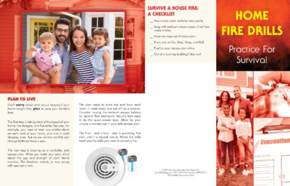 """""""Home Fire Drills: Practice for Survival"""" Pamphlet (1)"""