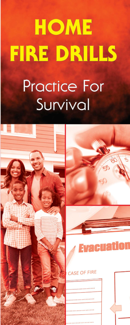 """""""Home Fire Drills: Practice for Survival"""" Pamphlet"""